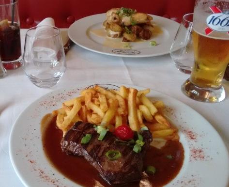 prato no restaurante Le Procope