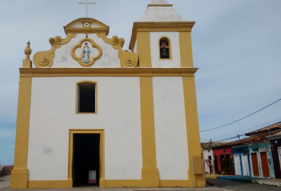 igreja arraial d'ajuda rota de praia do espelho