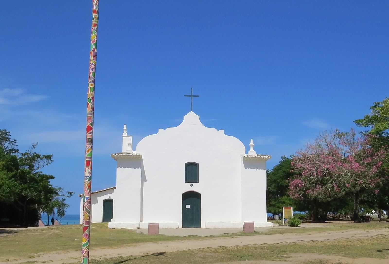 Igreja Quadrado Trancoso rota para praia do espelho
