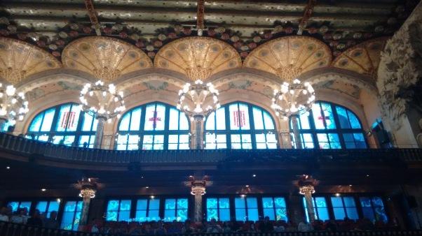 Interior do Palau da Musica Catalana