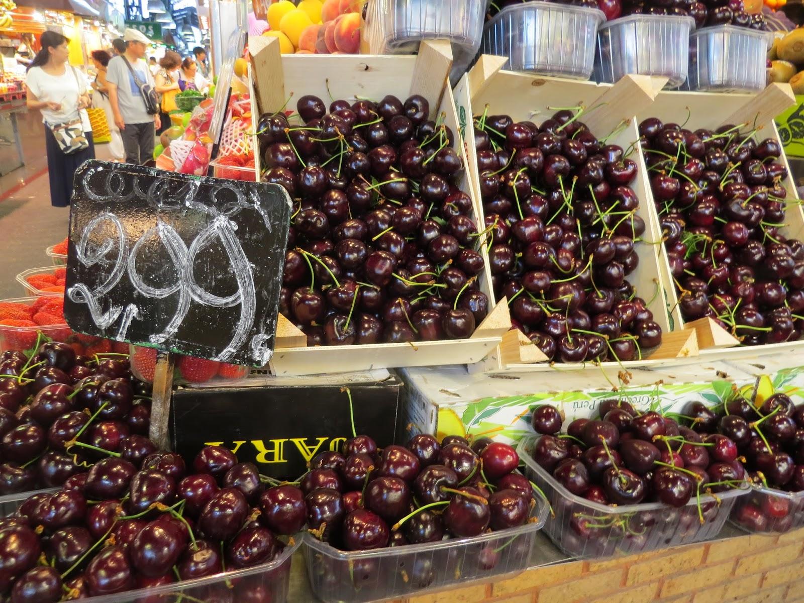 Frutas no mercado de La Boqueria Barcelona