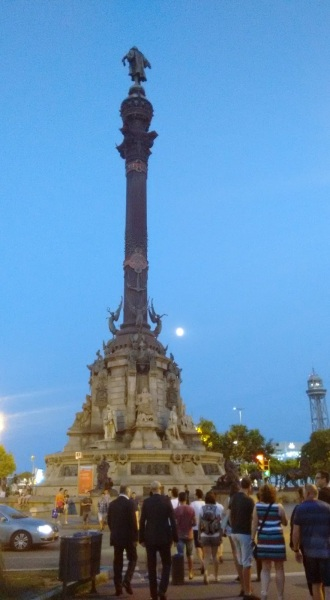 monumento em Las Ramblas Barcelona