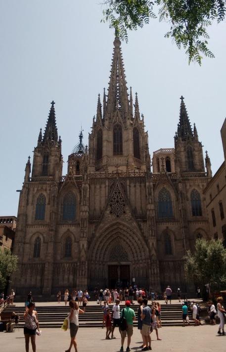 Fachada da catedral de Barcelona