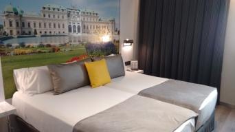 quarto do hotel em Barcelona