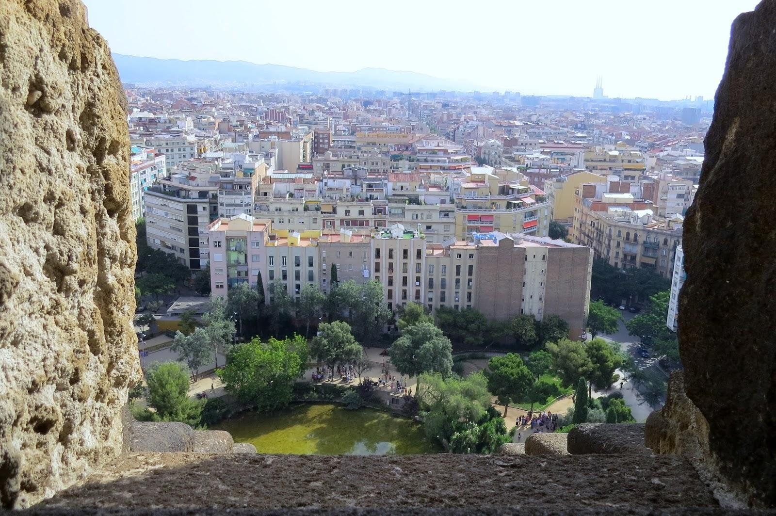 Vista de Barcelona na subida da Torre do Nascimento