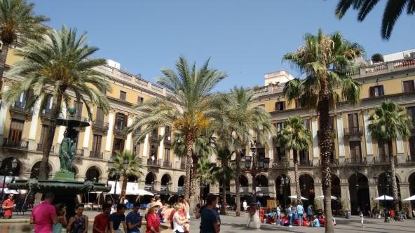 Praça real em Barcelona