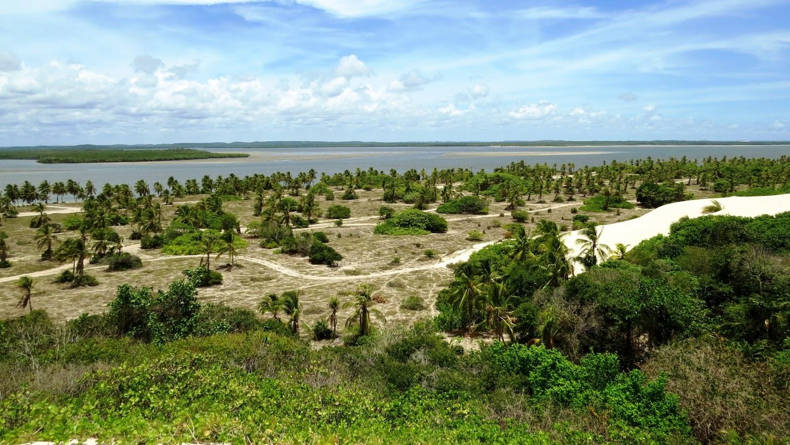 Vista do rio de Mangue Seco