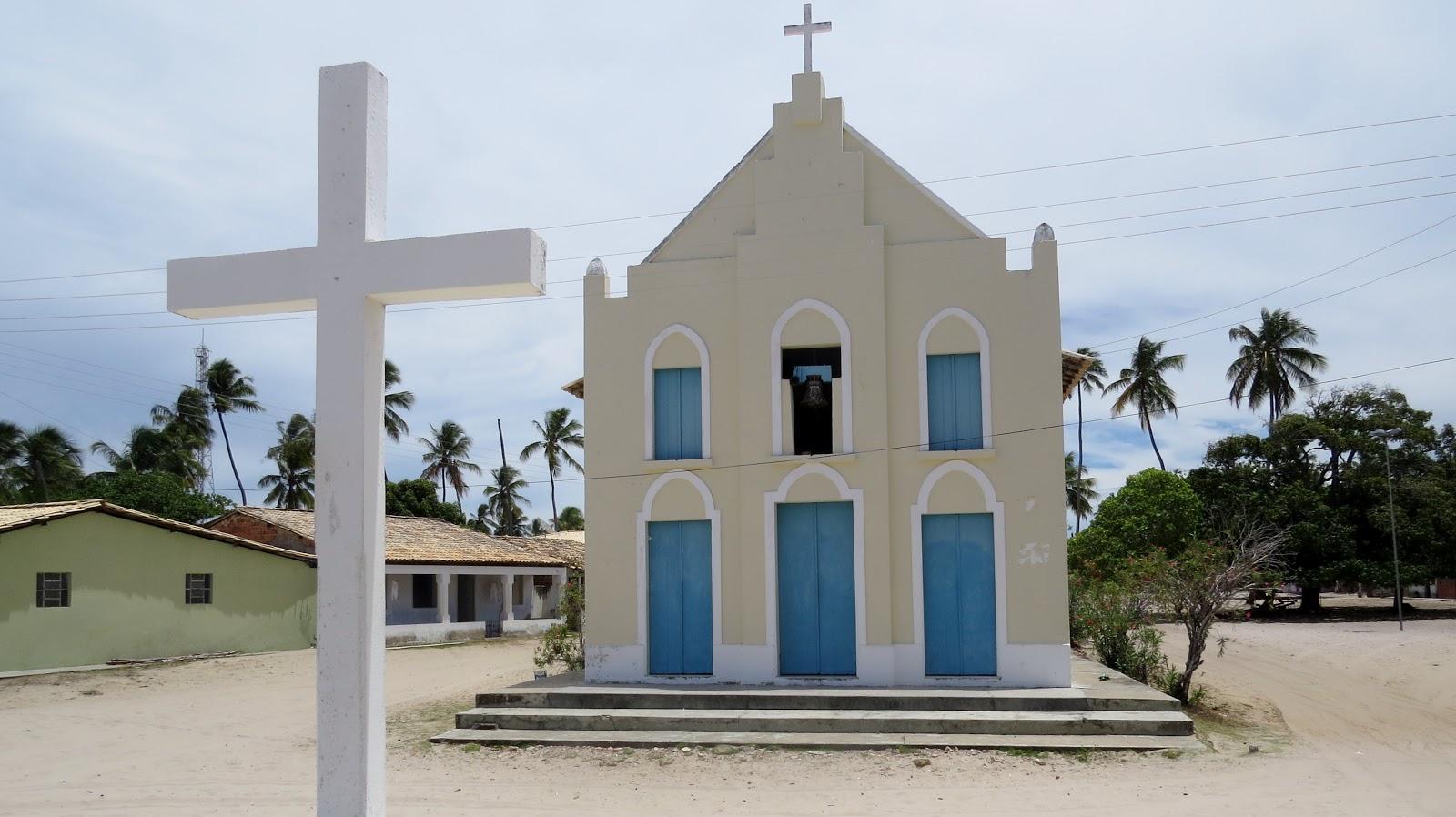 Igreja em Coqueiros povoado próximo à Mangue Seco