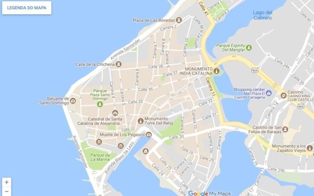 cartagena mapa amuralhada