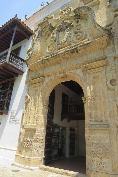 entrada do palácio da inquisição Cartagena