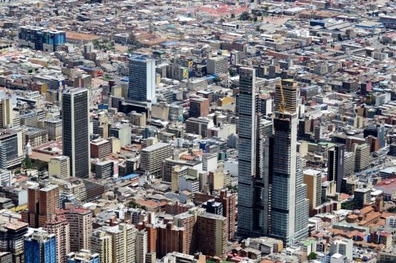 Vista do centro de Bogotá na Colômbia