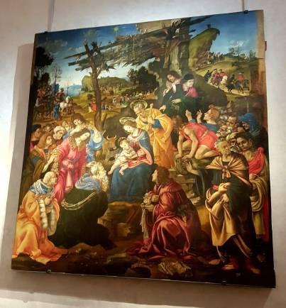 Florença-Ufizzi-escultura-adoração-dos-magos-2