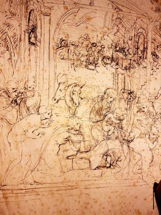 Florença-Ufizzi-escultura-adoração-dos-magos-3