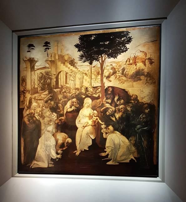Florença-Ufizzi-escultura-adoração-dos-magos
