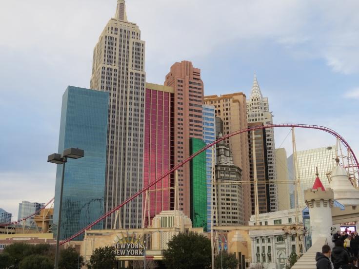 prédio do hotel New York New York em Las Vegas