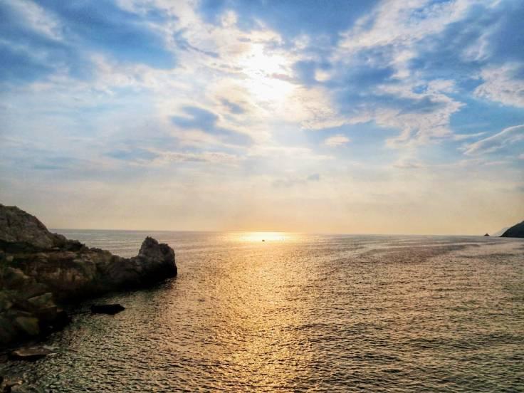 Por do sol em Portovenere, Ligúria, Itália