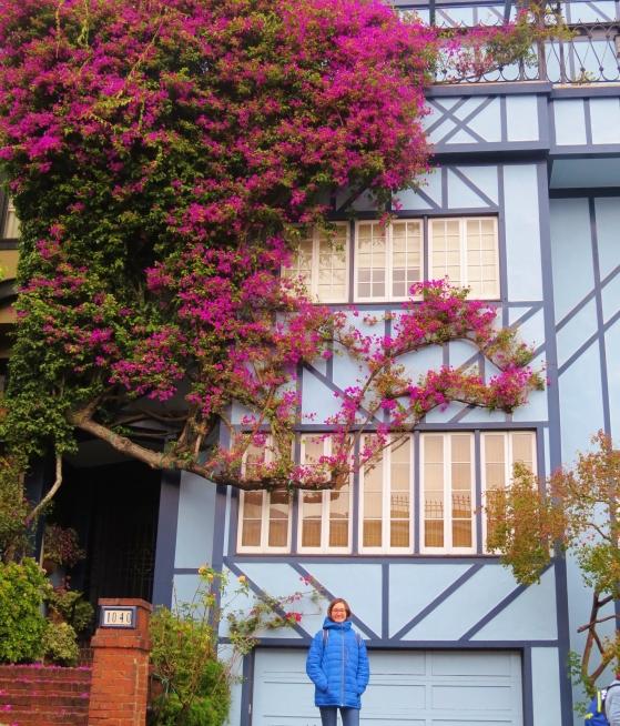 Fachada de casa na Lombard Street San Francisco