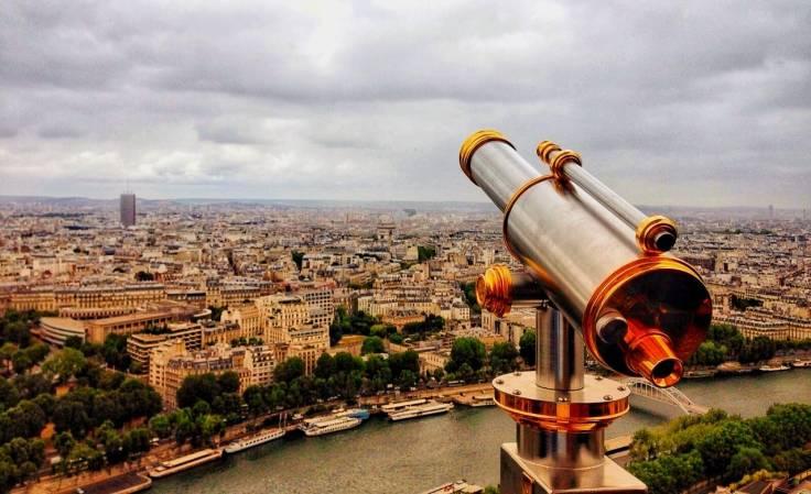 Paris vista do segundo andar da Torre Eiffel