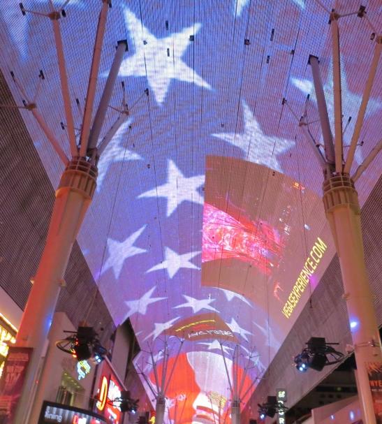 Teto de led da Fremont Street em Las Vegas