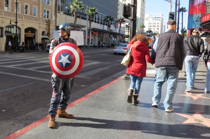Super herói em Hollywood Los Angeles