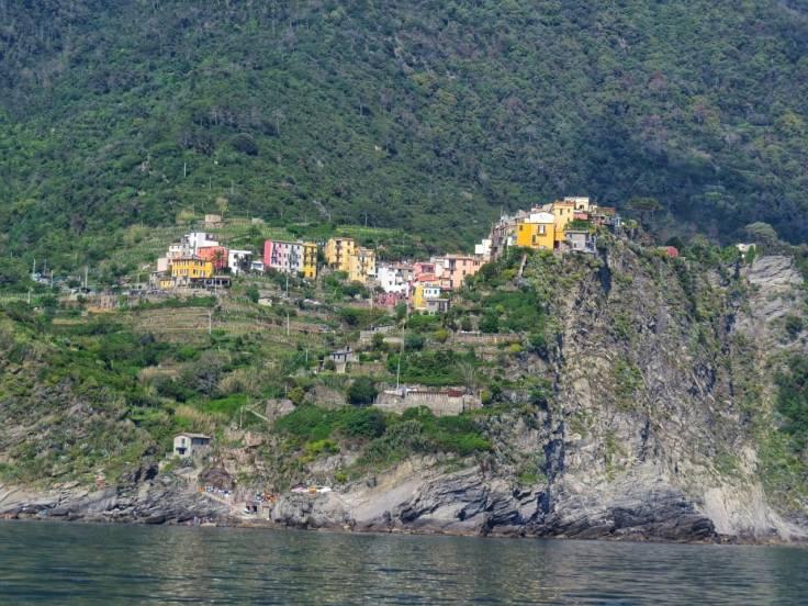 Vista de Coniglia a menor das cinque terre