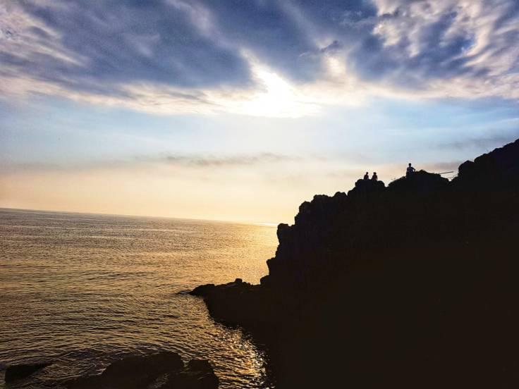 Por do sol em Riomaggiore