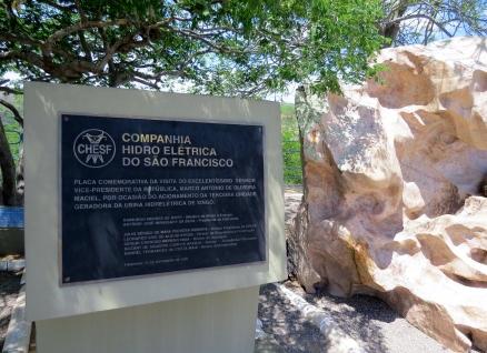 entrada do centro visitantes usina Xingó Sergipe