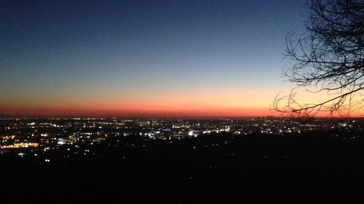 Los Angeles vista do observatório noite