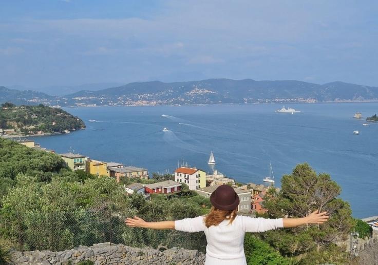 Vista da Baía de La Spezia em Portovenere