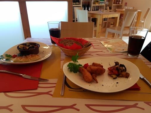 pratos da Osteria Il Pun em La Spezia