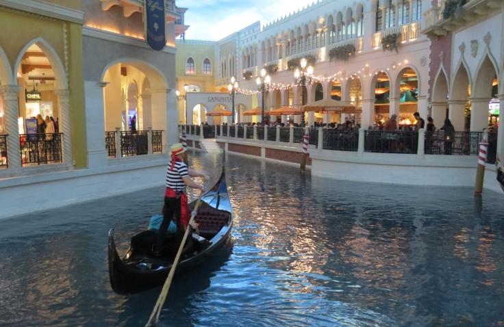 Ambiente imita Veneza no Venetian Las Vegas