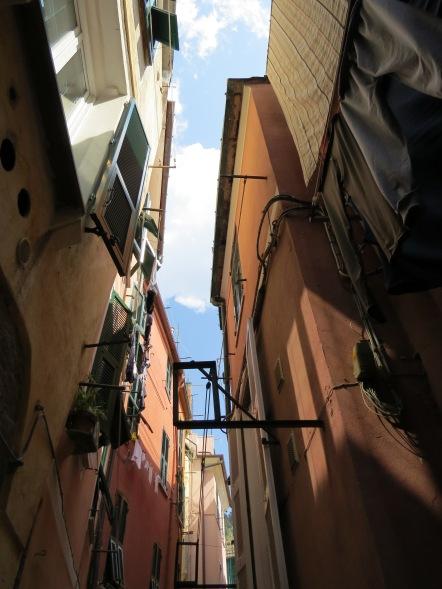 ruas estreitas em Vernazza cinque terre