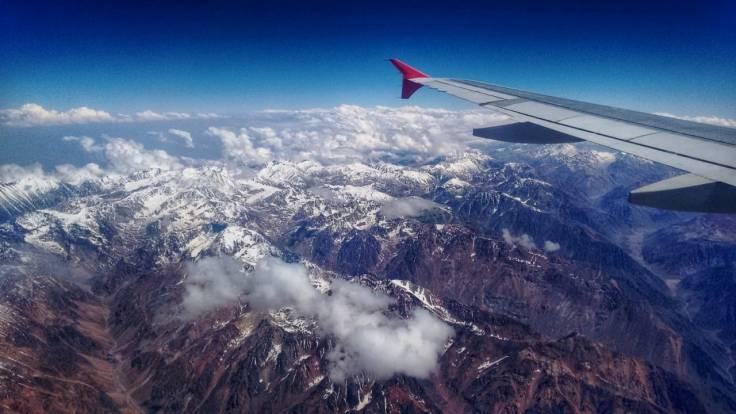 vista dos Andes parada viagem Califórnia