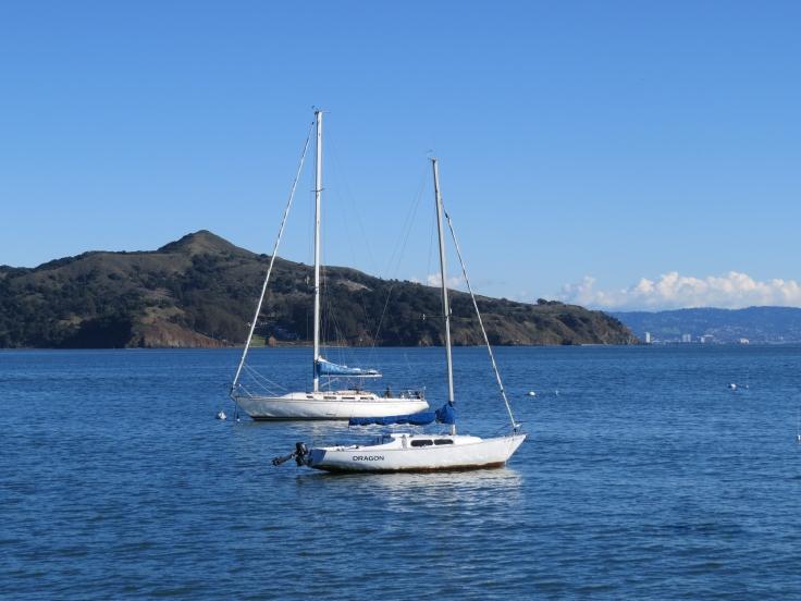 Barcos na baía de San Francisco