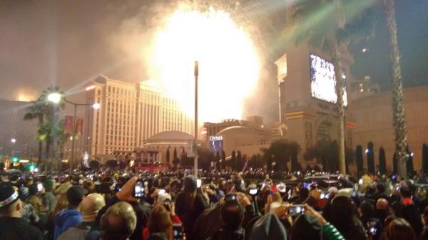 queima de fogos réveillon Strip Las Vegas