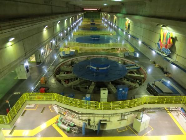 Área das turbinas da usina de xingó Sergipe