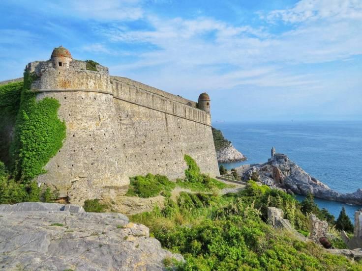 Fachada do Castelo Dória em Portovenere