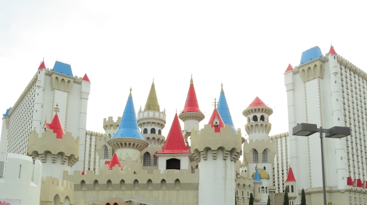 Fachada do hotel Excalibur em Las Vegas